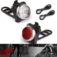 USB LED Fahrrad Licht Set Fahrradbeleuchtung Fahrradlampe Hinten Rücklicht