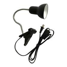 Desk Lamp Clamp Desk Lighting Clip on Reading Light W/ Flexible Gooseneck Black