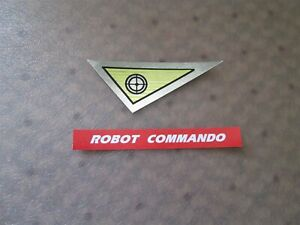 IDEAL ROBOT COMMANDO STICKER SET PRINTED ON PEEL-AND-STICK !
