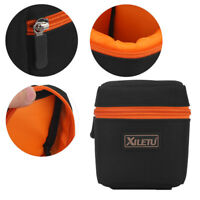 Small Padded Camera Lens Bag Shockproof Protective Pouch Case for DSLR Camera