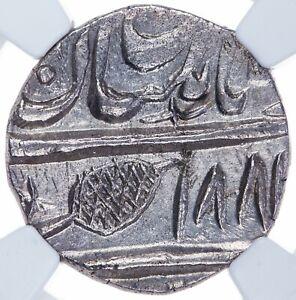 India Sikh Ranjit Singh Rupee Multan VS1881/4(1824) H-11.03.02 Trishul NGC MS 63