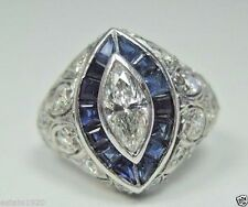 Antique Vintage Diamond Engagement Ring Platinum EGL USA Ring Size 4 UK-H Deco