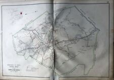 ORIGINAL 1906 MIDDLESEX COUNTY MASSACHUSETTS TOWN OF READING PLAT ATLAS MAP