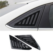 For Ford Focus 2012-18 ABS black Sedan Side Vent Window Scoop Louver cover trim