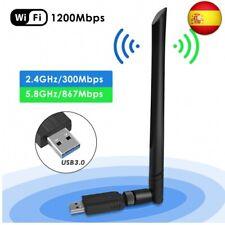 Wifi USB Adaptador, Antena Wifi USB Inalámbrico Dual Band 2.4G / 5.8G 802.11 ac