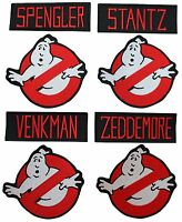 "Ghostbuster's Names and No Ghost 4"" Logos Set of 8 Embroidered Patches"