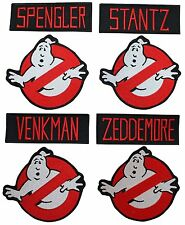 """Ghostbuster's Names and No Ghost 4"""" Logos Set of 8 Embroidered Patches"""