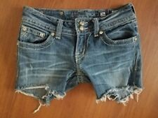 Miss Me Cutoff Jean shorts size 26 Jewels Button Flap Pockets Stretch