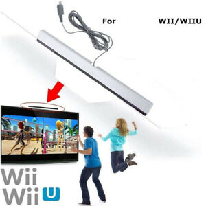 Wired Infrared IR Signal Ray Sensor Bar Replacement Compatible with Wii & Wii U