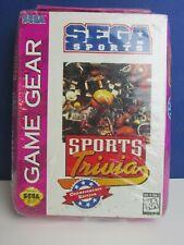 Versiegelt Vintage Original Sega Game Gear Sports Trivia Videospiel ungeöffnet 24z