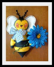 ~Primitive Raggedy Bumblebee Wall/Door Hanger~PATTERN #336~