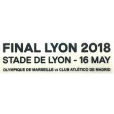 Atletico Madrid Lyon 2018 Europa league Match Detail Badge/Patch