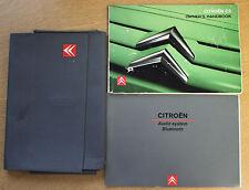 CITROEN C3 OWNERS MANUAL HANDBOOK WALLET AUDIO 2005-2009 PACK 15456