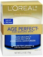 L'Oreal Dermo-Expertise Age Perfect for Mature Skin Night Cream 2.50 oz (2-PACK)