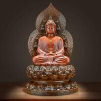 Japanese Buddhist Statue Shaka Nyorai Buddha sculpture H:19.5cm Japan New