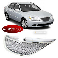 For: 11 12 Sonata Chrome Finished Honeycomb Mesh Hood Grill Grille