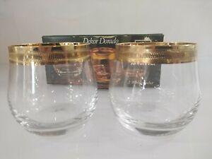WMF Cristal Diana Dorado Dekor 2 Whiskeybecher