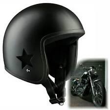 Motocicleta Casco original Bandit sky-jet-2 nuevo skater Roller esquí negro mate