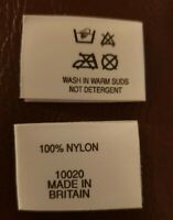 Union Jack Made in England Labels Woven Soft Cotton Garment Clothing Labels Neck
