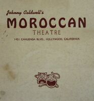 Vintage Restaurant Cocktail Drink Menu Moroccan Theater Hollywood CA 1950's