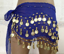 Hot Dancing Wrap Dance 3 Rows Gold Coin Belly Dance Costume Hip Scarf Skirt Belt