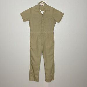 DICKIES Workwear S/S Cotton Work Coveralls Jumpsuit Mens Size Medium 38 Khaki