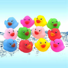24 Mini Colorful Bathtime Rubber Duck Kids Baby Bath Toy Squeaky Water Play Fun