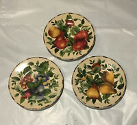 Vintage SAKURA Salad Plates ONEIDA SONOMA EXCELL - Fruit Pattern Set of 3
