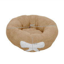 Calming Pet Bed, Warm Soft & Plush, Sleeping Cats & Small Dogs, Round, Brown