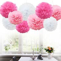 5Pcs Wedding Party Home Hanging Tissue Paper Pom Lantern Flower 10-20cm Balls .*