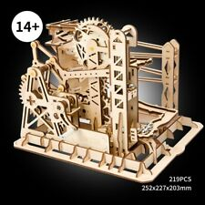 DIY Marble Roller Coaster Construction Set Gear Drive Model Building Toy Adults