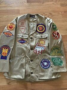 Vtg SHOOTING JACKETS 10X IMPERIAL REEVES Army Twill 42 NRA Ruger Iowa Patches