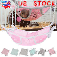 Hamster Rabbit Mesh Hammock Pet Rat Sleeping Nest Hanging Bed Swing Cage Toys US