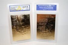 Star Wars Darth Vader 23Kt Gold Card Sculptured Graded Gem Mint 10 * Bogo *