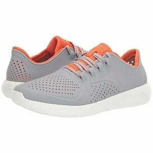 Crocs Literide Pacer Light grey orange Foam Technology men shoes Low size 13 new