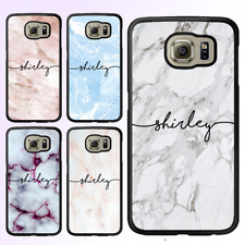 Marble Custom Name Initial Personalised Galaxy S9 S8 Plus S7 Edge Bumper Case IV