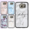 Marble Custom Name Initial Personalised Galaxy Note 9 8 S9 S8 Plus S7 Case Cover