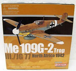 1942 WWII German Messerschmitt Me BF 109G-2 Trop North Africa 1/72 Dragon MB