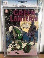 Green Lantern #68 April 1969 CGC 7.5 VF- Off White To White Pages Gil Kane Art