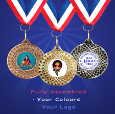10 x Personalised Running/Walking Medals + Ribbon + Engraving + Your Own Logo