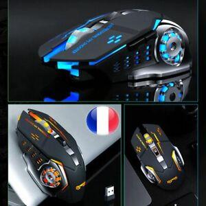 SOURIS GAMER SANS FIL RECHARGEABLE RETRO ECLAIREE LED 3200 DPI 6 BOUTONS