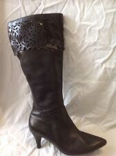 Ecco Black Knee High Leather Boots Size 36
