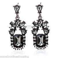 1 Pair Fashion Women Vintage Rhinestone Ear Chandelier Dangle Earrings Jewelry