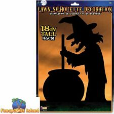 Witch Silhouette 45cm Lawn Outdoor Halloween Fancy Dress Party Celebration