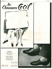 Publicité Ancienne  Les Chaussures CECIL  1929 Issu de Magazine