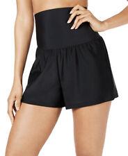ISLAND ESCAPE Women's Tummy Control Swim Shorts sz 6 Black Swim Swimwear Bottoms