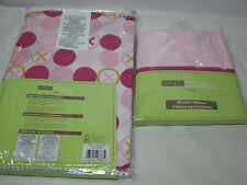 2 pc Simply Baby By NoJo Hugs & Kisses Diaper Stacker & Window Valance Pink Girl