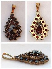 Garnet Pendant 333 Gold Pendant Gold Pendant Garnet Gold Jewellery