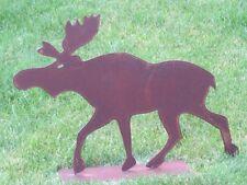 Edelrost Elch groß Jäger Rentier Rost  Metall Rost Tiere  Weihnachtsdeko