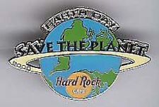 """Hard Rock Cafe ONLINE 2000 EARTH DAY Globe """"STP"""" PIN HRO SAVE THE PLANET"""